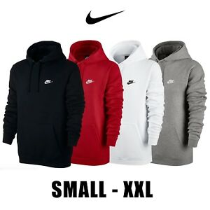 cb54cb51012b Nike Club Fleece Pullover Longsleeve Men s Hoodie 804346 White Black ...