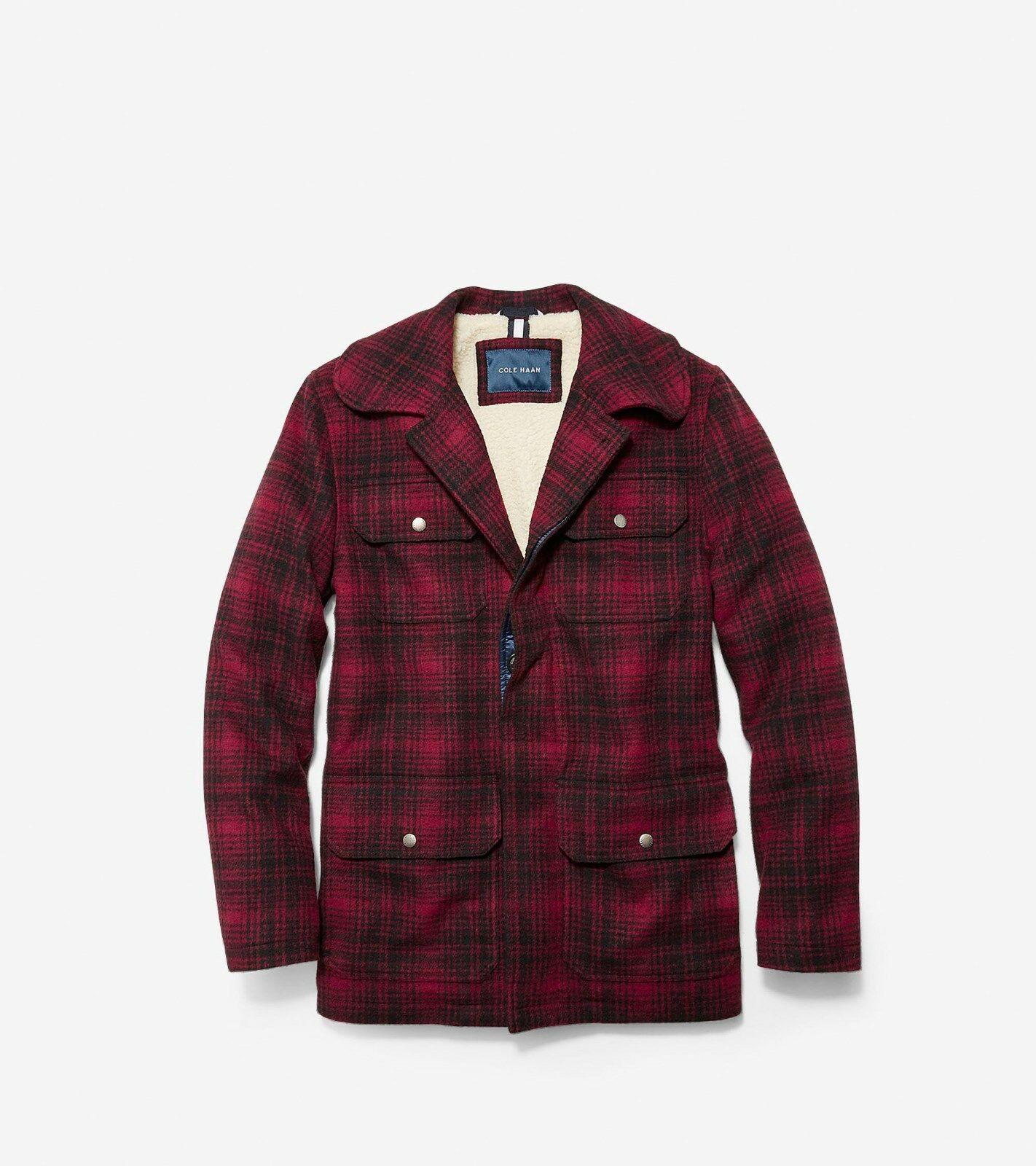 New COLE HAAN Plaid wolleSherpa Lining Classic Hunter Mountain Barn Ranch jacke