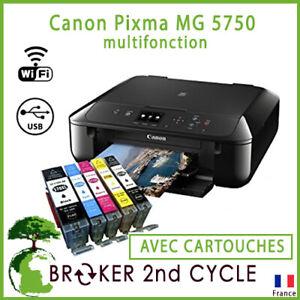 Imprimante-Canon-Pixma-MG-5750-multifonction-AVEC-CARTOUCHES