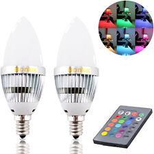 Bonlux 2-Pack 3W RGB E12 Candelabra LED Bulb Remote Control Color Changing Light