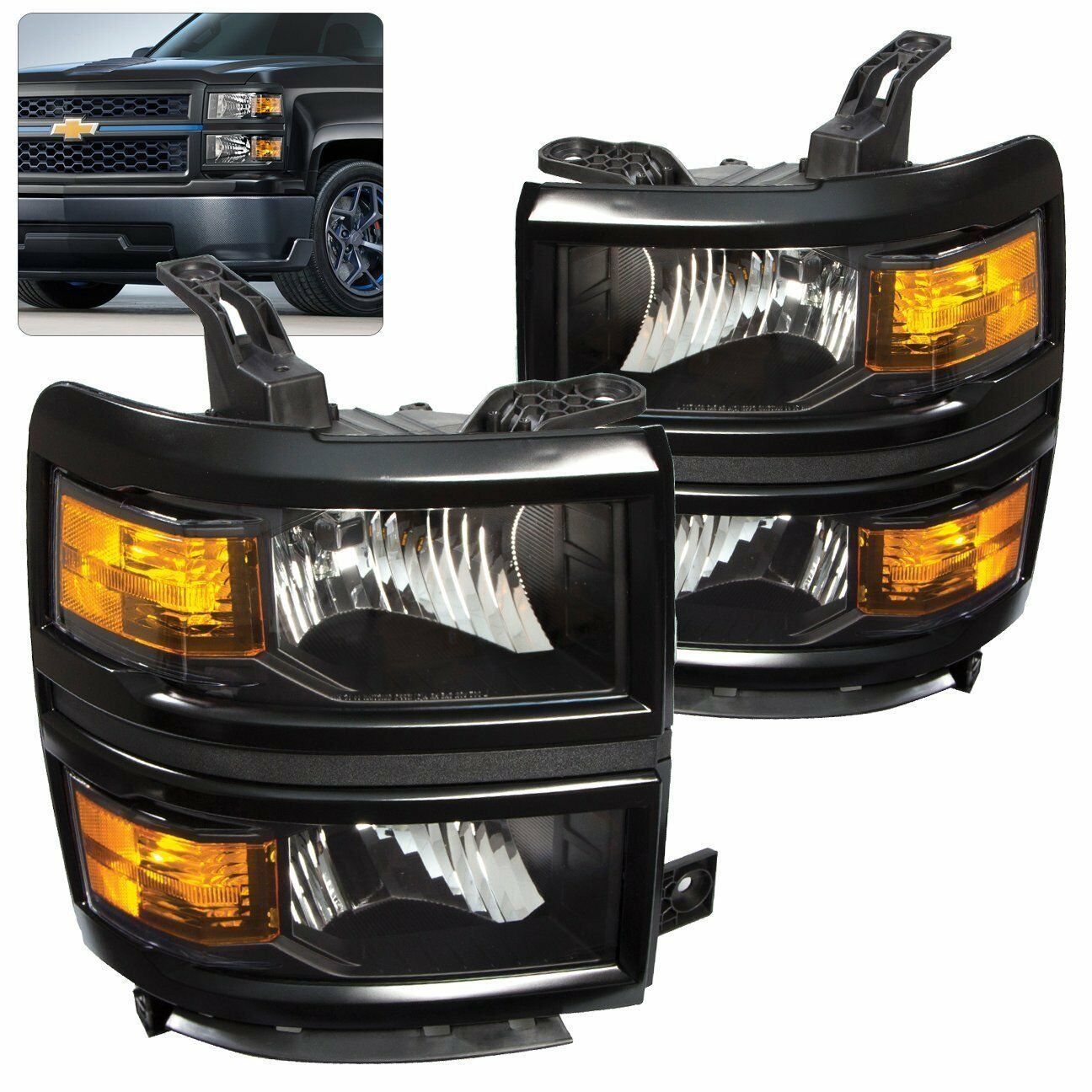 chevy silverado 1500 2500 3500 headlight head lights. Black Bedroom Furniture Sets. Home Design Ideas