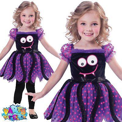 Girls Cute Pumpkin Ghost Spider Monster Costume Child Halloween Fancy Dress Kids
