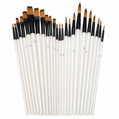 12pcs Artist Paint Brushes Set Acrylic Oil Watercolour Painting Art Craft Kit