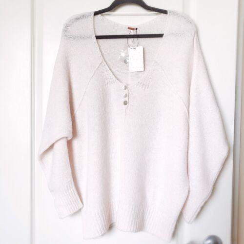 Pullover neck Nwt Tunika Loose Free People Sweater M V Oversized Størrelse 8qwCSxfRn1
