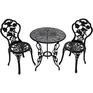 Better homes and gardens rose 3 piece bistro set ebay - Better homes and gardens bistro set ...