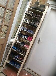 Rustic Shoe Ladder Made From Reclaimed Pallet Wood - <span itemprop=availableAtOrFrom>Thirsk, North Yorkshire, United Kingdom</span> - Rustic Shoe Ladder Made From Reclaimed Pallet Wood - Thirsk, North Yorkshire, United Kingdom