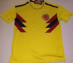 287131fa6fb Image is loading Men-039-s-Colombia-2018-world-cup-Home-
