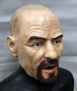 Full Head Walter White Mask Latex Heisenberg Bad Halloween Fancy Dress Breaking