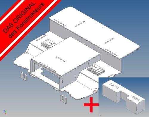 Fahrerhausboden+Sitzkonsolen+Elektrobox für Tamiya Scania R-.. M 1:14 SLKE