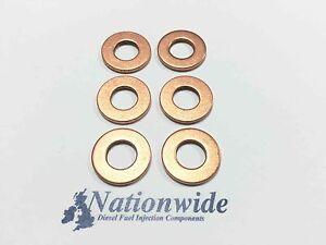 BMW X 5 3.0 d 3.0 Common Rail Diesel Injector Washers//Seals x 6