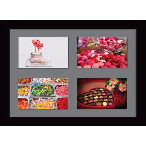 Large Multi Photo Ouverture Cadre format A4 avec 4 ouvertures