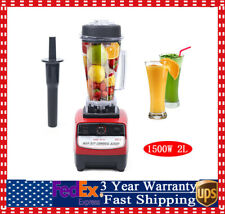 2l 1500w Heavy Duty Commercial Grade Blender Mixer For Juicer Food Fruit Ice 2hp