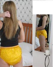 PLASTIC ADULT DIAPER PANTS,  BIKINI STYLE,  XL AMBER  ABDL