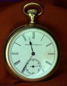 347a22778db Circa 1919 ELGIN 16 Folheado A Ouro face aberta 20YR Relógio De ...