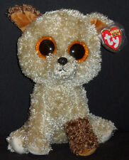"TY BEANIE BOOS BOO'S - ROOTBEER the 9"" DOG - MEDIUM - MINT with MINT TAG"
