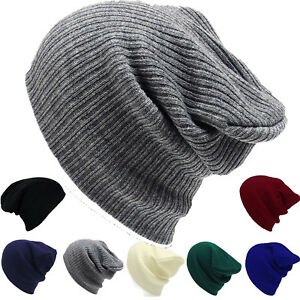 b688ab41efefa1 Men Women Beanie Hats Winter Warm Knitted Baggy Slouch Skull Ski Cap ...