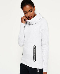 Image is loading New-Womens-Superdry-Gym-Tech-Cowl-Hoodie-Ice- 5983eb810e
