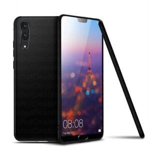 Ragetorc-Huawei-P20-Huelle-Slim-Silikon-Ultra-Soft-Gel-Phone-Cover-Solid-Schwarz