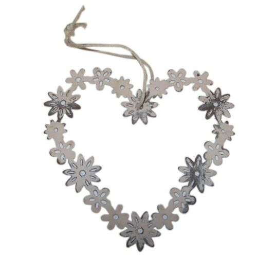 Mini Shabby Chic Style Daisy Coeur Décoration 8 cm-Mother /'s Day