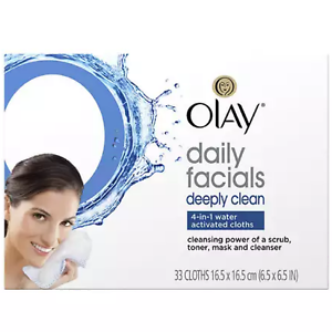 Olay-Daily-Deeply-Clean-4-in-1-Water-Activated-Cleansing-Face-Cloths-33ct-2pk