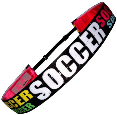 """Non Slip Adjustable Headband /""""SOCCER SOCCER SOCCER/"""" by RazzyRoo Headbands"""