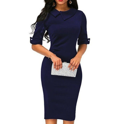 Elegant Womens Office Formal Slim Business Party Cocktail Evening Bodycon Dress