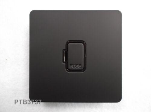Obtenez Noir Ultime Soft Touch plaque plane 13 A Interrupteur Fusible Unité de raccordement