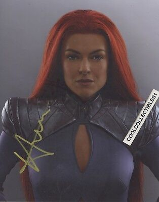 """Official Website Serinda Swan Of Inhumans In Person Signed 8x10 Color Photo """"exact Proof"""" Pure White And Translucent Entertainment Memorabilia Autographs-original"""