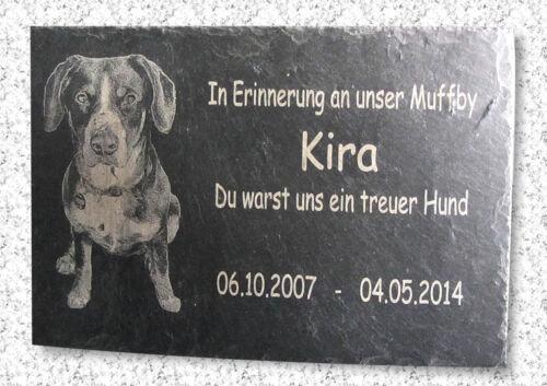Wunschfoto /&Text Gravur Naturschiefer Kira Grabstein Gedenktafel Gedenkplatte