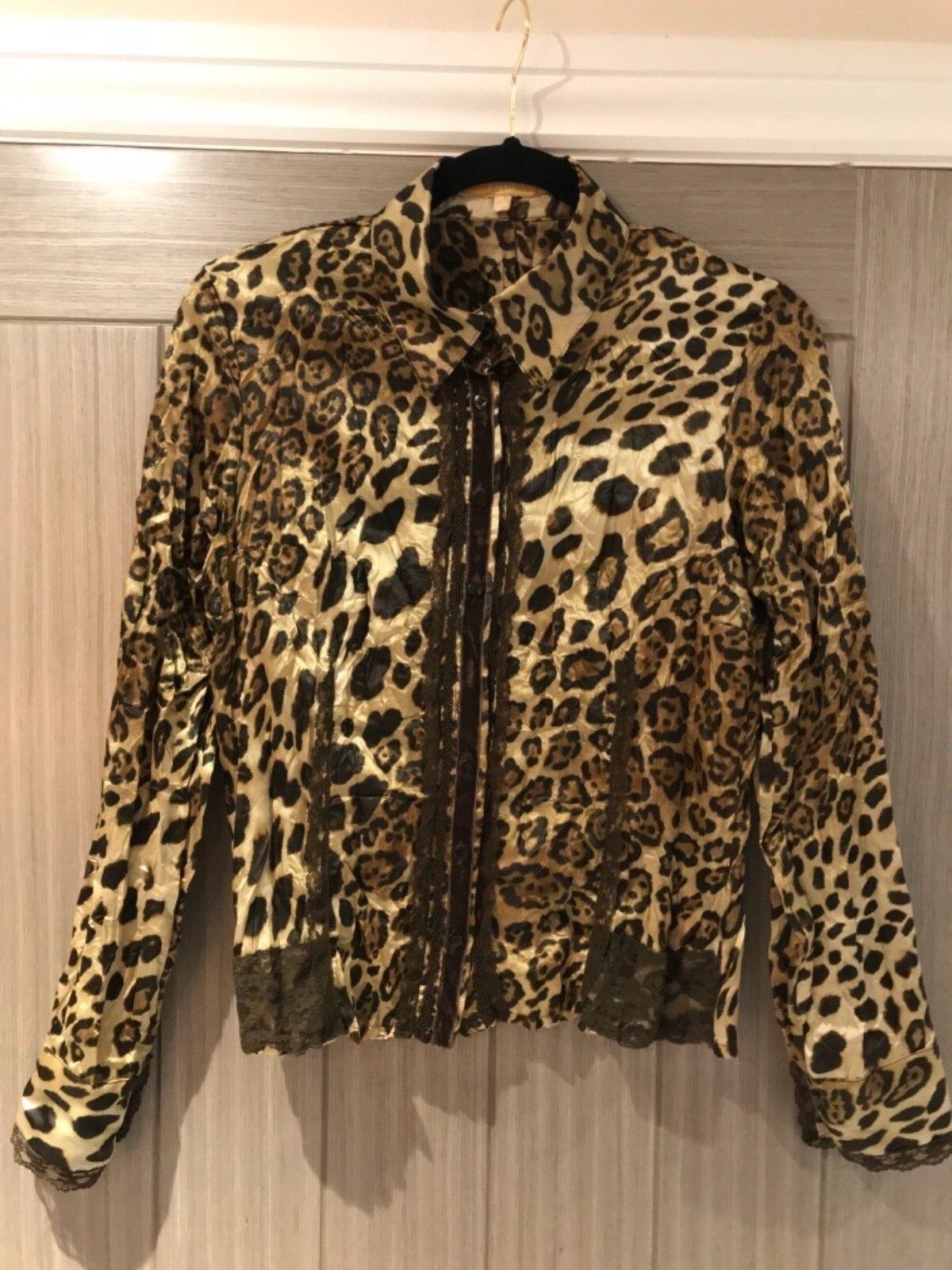 "Fabulous Biba Animal Print Shirt, 36"" Bust, Very Good Condition"