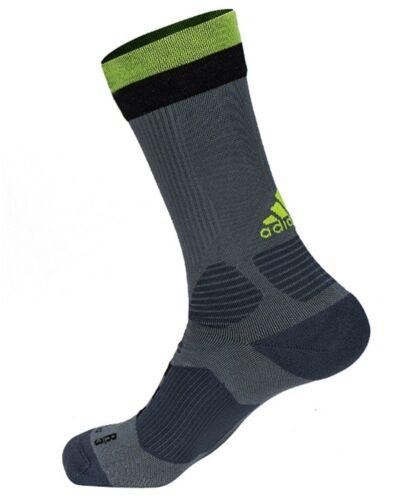 NWT Adidas Men ACE Socks Soccer Football Pairs Gray Green Ankle Sock GYM S94688