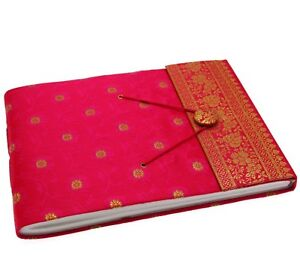 Fair Trade Handmade Medium Sari Photo Album Cerise