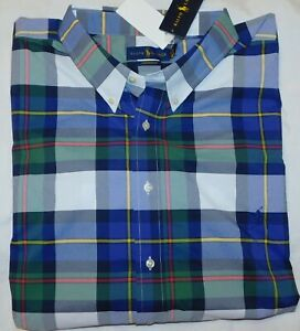 New-Men-s-Polo-Ralph-Lauren-SS-Plaid-Button-Down-Performance-Shirt-3XLT-TALL