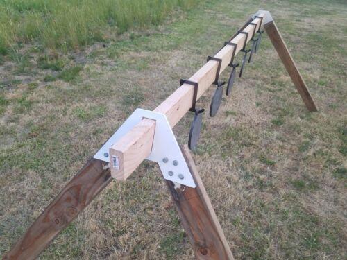 """Portable Steel Challenge Plaque Rack pour arme de poing formation avec 10/"""" AR500 objectifs"""
