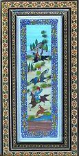 Persian Painting in Khatam Frame Nomads Herdsmen Signed by Artist 198