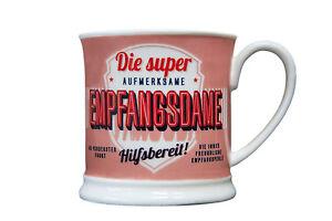 Empfang-Becher-DIE-SUPER-EMPFANGSDAME-Retrobecher-Kaffeebecher-von-GlasXpert