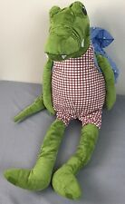 Ikea Green Crocodile Blue Backpack Fabler Krokodil Alligator Pajama Holder Plush