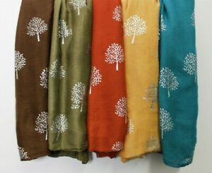 New-Mulberry-Tree-Silver-Foil-Print-Scarf-Shawl-Wrap-Cotton-Christmas-Stocking