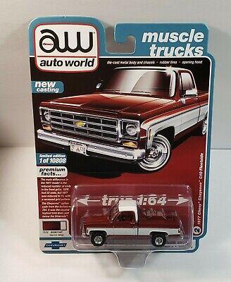 Auto World 2020 Muscle Trucks R2 1977 CHEVROLET CHEYENNE C10 FLEETSIDE Pickup