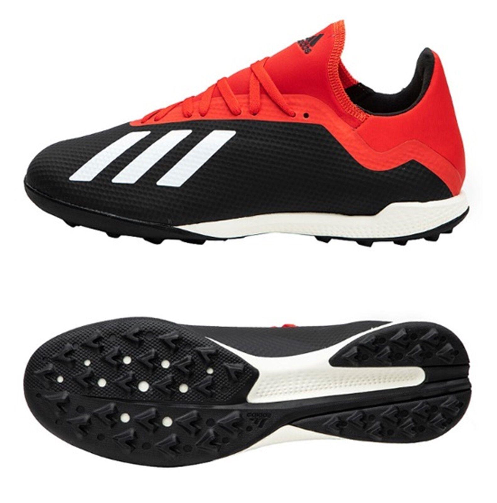Adidas Hombres X 18.3 Roscada Horquilla Botines Futsal Fútbol Rojo Negro Zapatos botas Spike BB9398