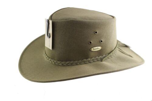 Gardening Genuine Eureka Stockade Polysuede Cooler Hat in Olive or Brown Colour.
