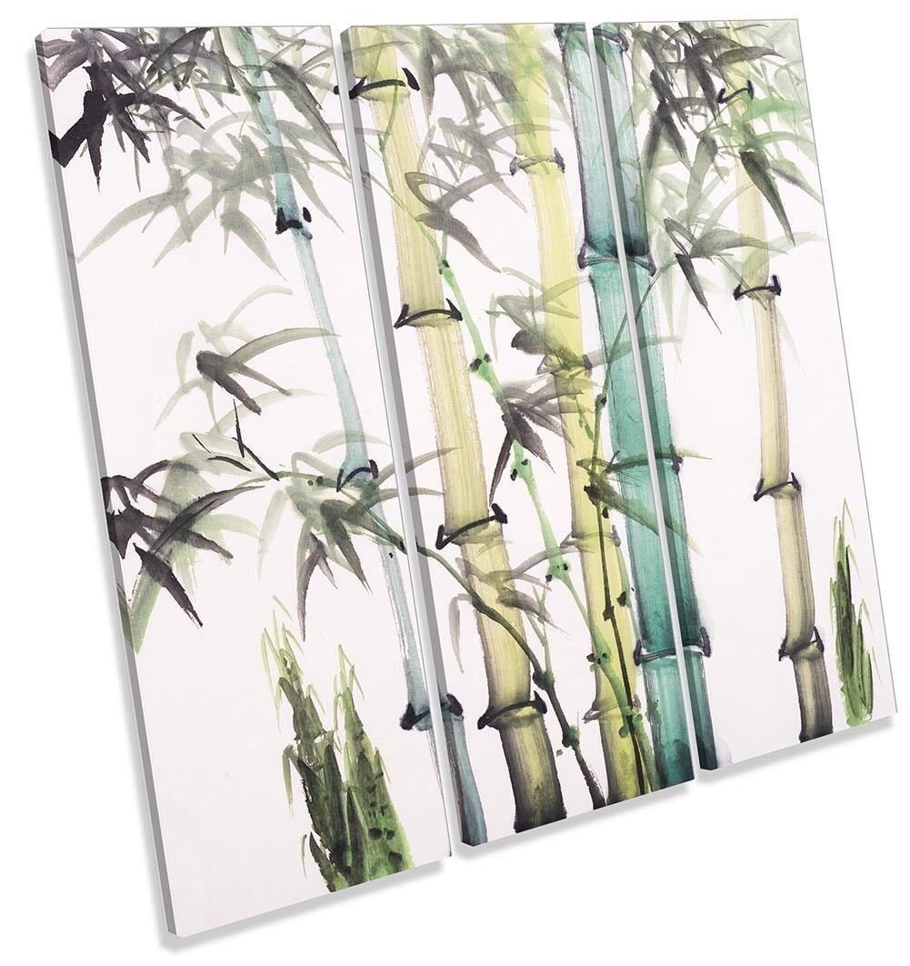 Floreale Bamboo Vernice REPRO Treble a muro opera d'arte art print