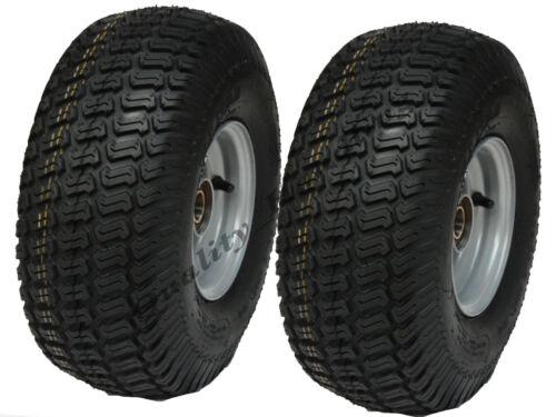 set of 2 trailer 15x6.00-6 grass tyre on rim-lawnmower- cart-buggy 20mm BB