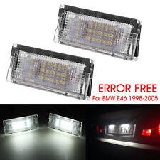 2PCS Car LED License Plate Light Plate Lamp Bulb For BMW 3 Series E46 4D 98-03 *