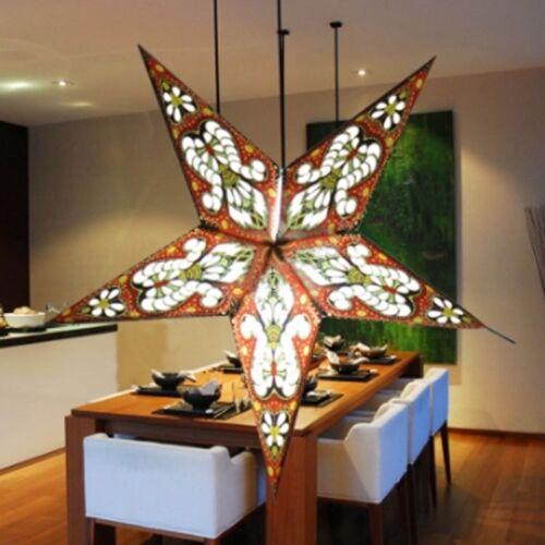 NEW 3D Laser Star Paper Lantern Lampshade Pub Home Wedding XMAS party Hang Decor