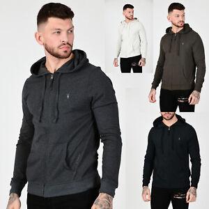 All-Saints-Mens-Brace-Designer-Hooded-Sweatshirt-Jersey-Cotton-Zip-Thru-Hoodie