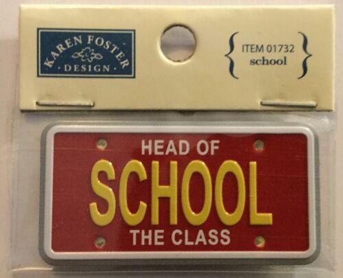 Pick 1 Of Karen Foster  Mini License Plate For Scrapbooking  NEW