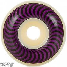 "SPITFIRE ""Classic"" Skateboard Wheels 58mm 99a WHITE / PURPLE Pool Ramp Park Vert"