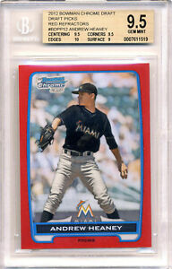 ANDREW HEANEY 2012 BOWMAN CHROME BGS 9.5 RED REFRACTOR #/5 PROSPECT ROOKIE RC !!