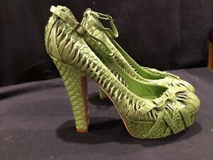 BRAND-NEW-rare-CHRISTIAN-DIOR-Snakeskin-Women-039-s-Heels-39-5-Italy-Leather-women